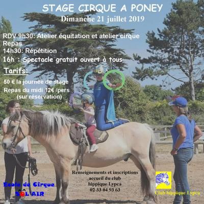 Affiche stage cirque